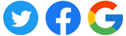 twitter・Facebook・Googleのロゴ
