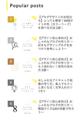 Cocoon「人気記事ランキング」デフォルトのデザイン