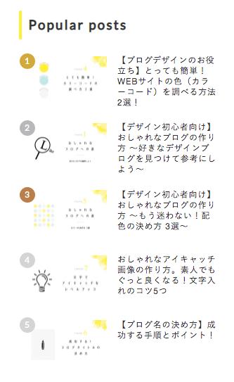 Cocoon「人気記事ランキング」カスタマイズ後のデザイン